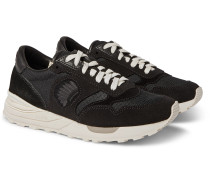Roland Leather-Trimmed Suede and Mesh Sneakers