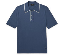 Contrast-Tipped Pima Cotton-Jersey Polo Shirt