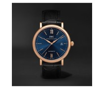 Portofino Automatic 40mm 18-Karat Rose Gold and Alligator Watch, Ref. No. IW356522