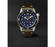 Project Possible Limited Edition Automatic GMT 43mm Titanium, Bronze and Leather Watch, Ref. PROJECT-POSSIBLE-R-S