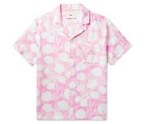 + Daniel Johnston Camp-Collar Printed Linen Shirt