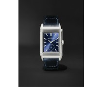 Reverso Tribute Duoface Hand-Wound 28.3mm Stainless Steel and Leather Watch, Ref. No. 3988482