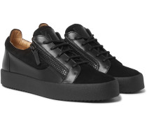 Leather And Suede Sneakers