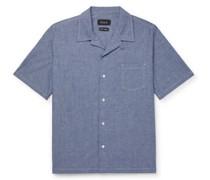 Cocktail Camp-Collar Cotton-Blend Chambray Shirt