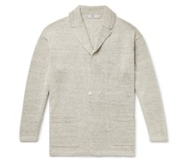 Relaxed Mélange Linen Cardigan