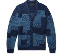 Patchwork Cotton-Jacquard Cardigan