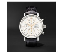 Portofino Automatic Chronograph 42mm Stainless Steel and Alligator Watch, Ref. No. IW391031
