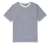Striped COOLMAX Cotton-Blend Jersey T-Shirt