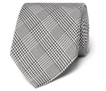 8cm Prince Of Wales Checked Silk Tie