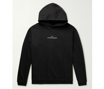 Logo-Embroidered Cotton-Jersey Hoodie