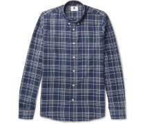 Falk Button-down Collar Checked Cotton-twill Shirt