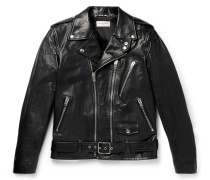 Slim-fit Leather Biker Jacket