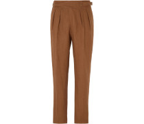 Manny Pleated Linen Trousers
