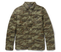 Sussex Camouflage-print Quilted Cotton Jacket