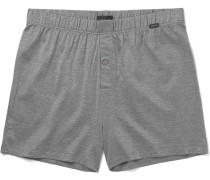 Striped Mercerised Cotton Boxer Shorts