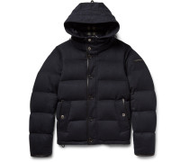 Water-repellent Quilted Cashmere Down Jacket