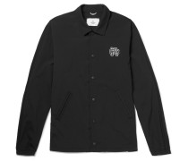 Printed Stretch-shell Coach Jacket