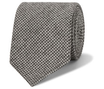 8cm Puppytooth Wool And Cashmere-blend Tie