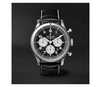 Navitimer 8 B01 Automatic Chronograph 43mm Stainless Steel and Alligator Watch, Ref. No. AB0117131B1P1