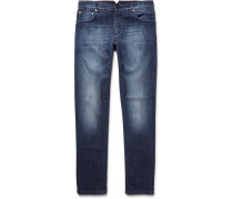 Slim-fit Washed Stretch-denim Jeans