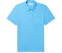 Wade Slub Cotton-Jersey Polo Shirt