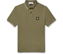 Slim-fit Contrast-tipped Stretch-cotton Piqué Polo Shirt