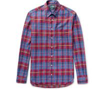 Button-down Collar Checked Cotton Shirt