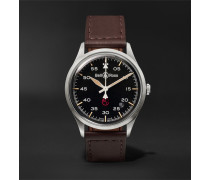 Br V1-92 Military Automatic 38.5mm Stainless Steel And Leather Watch