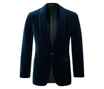 Slim-Fit Cotton-Velvet Tuxedo Jacket