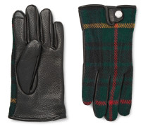 Thinsulate™-lined Leather And Wool And Alpaca-blend Tech Gloves