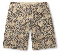 Paisley-Print Brushed-Cotton Shorts