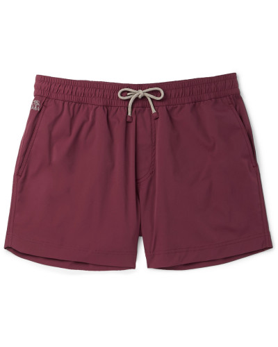 Mid-length Swim Shorts - Burgundy