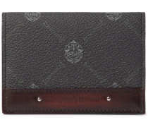 Imbuia Printed Full-Grain and Burnished Leather Wallet