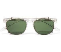 Byron D-frame Acetate Optical Glasses With Clip-on Uv Lenses