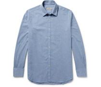 Herringbone Brushed-cotton Shirt