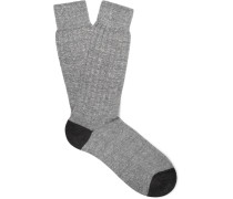 Two-tone Knitted Socks