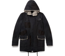 Shearling-trimmed Cotton Parka