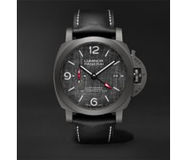 Luminor Luna Rossa Challenger Automatic GMT and Flyback Chronograph 44mm Titanium and Leather Watch, Ref. No. PAM01036 MSNET 60