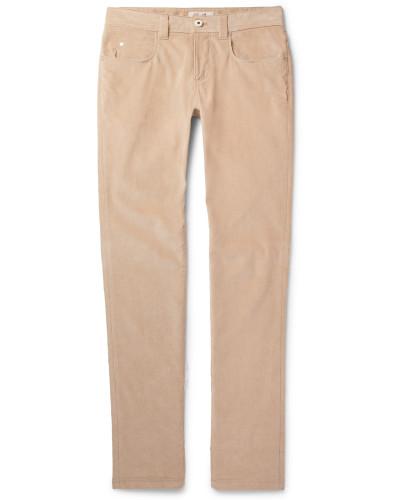 Slim-fit Stretch-cotton Corduroy Trousers - Beige