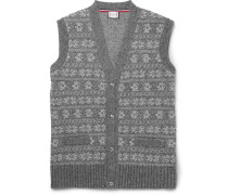 Fair Isle Wool-blend Sweater Vest