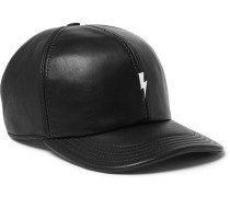 Embellished Leather Baseball Cap