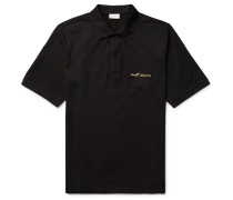 Embroidered Cotton-piqué Polo Shirt