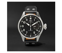 Big Pilot's Automatic 46.2mm Stainless Steel and Leather Watch, Ref. No. IW500912
