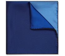 Polka-dot Colour-block Silk-twill Pocket Square