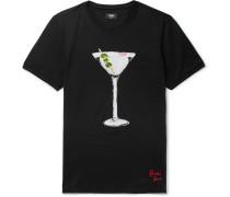 Martini-print Cotton-jersey T-shirt