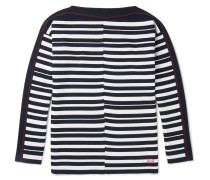 Boat-neck Striped Wool Sweater