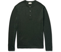 Merino Wool, Silk And Cashmere-blend Henley Sweater