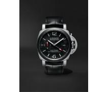 Luminor Luna Rossa GMT Limited Edition Automatic 42mm Titanium and Alligator Watch, Ref. No. PAM01096