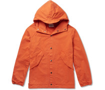 Washed-cotton Hooded Parka