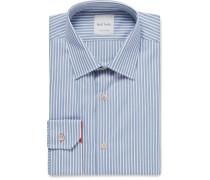 Blue Soho Slim-fit Bengal-striped Cotton Shirt